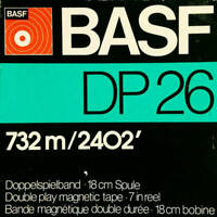 "BASF DP26 Ferro LH Reel to Reel Tape, DP, 7"" Reel, 2400 ft, Refurbished"
