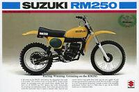 1976 SUZUKI RM250 VINTAGE MOTORCYCLE AD POSTER PRINT 24x36 9 MIL PAPER
