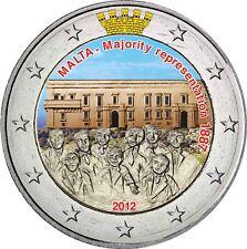 Malta 2 euro 2012 mayoritario en conmemorativa color