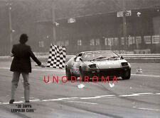 1981 MONZA COPPA CARRI BANDIERA SCACCHI DE TOMASO PANTERA GR4 FOTO OR AUTOGRAFAT