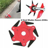 6 Steel Blade Lawn Mower Grass Eater Trimmer Head Brush Cutter Tool For Garden