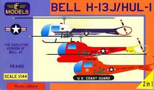 LF Models 1/144 BELL H-13J HUL-1 Helicopter 3 American Versions