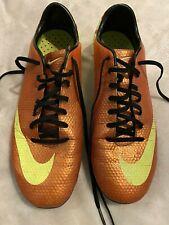 Nike Mercurial Victory IV FG Soccer Cleats Men's Size 9 Sunset/Volt
