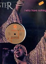 SYLVESTER i who have nothing FRANCE 1979 12INCH 45 RPM EX