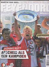 Programme / Magazine Feyenoord Rotterdam 10e jaargang no.11 Juni 2017