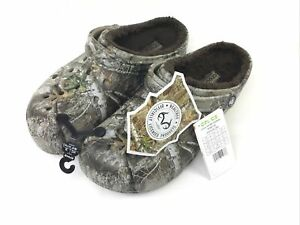 New Limited Edition Men's Crocs Classic Lined Realtree Edge Camo Clog Size 12