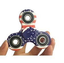 Tri-Spinner Fidget Toy Ceramic EDC Hand Finger Spinner Desk Focus American Flag