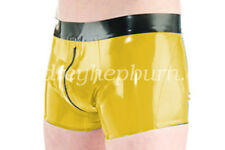 Hot Sale Short Hosen Latex Sexy Shorts With Zipper Rubber Gummi Pants Size S-XXL