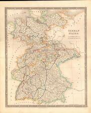 1843 ANTIQUE MAP- DOWER - GERMAN STATES
