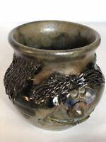 Studio Art Pottery Unique Mug Whimsical Face Tiki mug 3 D Hand Made Artist sign