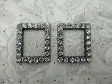 Vintage Style Rhinestone Frames - Jewelry Connectors - Rectangle Frame Links