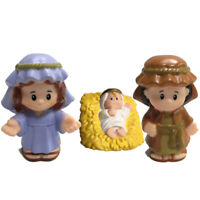 3Pcs Fisher Price Little People BABY JESUS Joseph manger MANGER MARY toys gift
