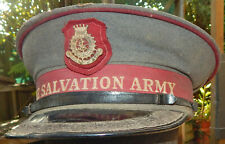 Vintage NEW ZEALAND Salvation Army SENIOR Officer's Visor Cap New Zealand MADE