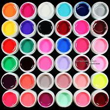 36pcs Mix Pure Random Colors Nail Art UV Builder Gel for Acrylic Nails Salon kit