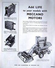1962 'MECCANO' Kits (Electric & Clockwork Motors) ADVERT - Original Print AD