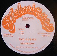 "Red Dragon Hol A Fresh 12"" Dancehall Techniques Super Black Nowadays Girl VINYL"