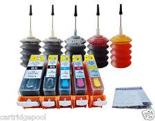 Refillable cartridges for Canon PGI-220 CLI-221 PIXMA MP990 MX860 MX870 + 5x30ml