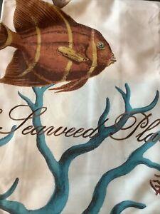 pottery barn sea life shower curtain #1571