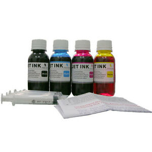 4x 100ML ND® Refill ink kit for HP Canon Lexmark Dell Brother inkjet printer