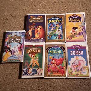Walt Disney Masterpiece Collection VHS Tapes Movie Kids Children - Lot of 7
