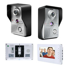 "Modern Design 7""LCD Video Door Phone Doorbell Intercom Kit 1-IR Camera 1-Monitor"