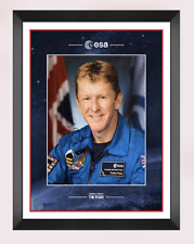More details for tim peake signed & framed 10x8 photo mount display genuine aftal coa