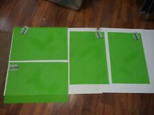 Four Tropical Prep Green Colored Placemats 17.72 Inch X 12 Inch