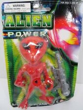 "ALIEN POWER SAVE OUR PLANET 5"" FIGURE WITH WEAPON UNOPENED CARDED RACK TOY"