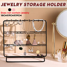 Jewelry Earring Necklace Ring Organizer Stand Storage Hook Holder Display Hang