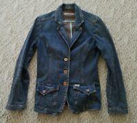 Levi's Strauss Signature Denim Jacket Women Copper Buttons Dark Wash Small S