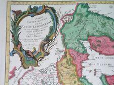 1784 RARE REMONDINI ORIGINAL MAP RUSSIA ESTONIA LATVIA FINLAND MOSCOW PETERSBURG