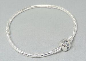Authentic Pandora 7.9 Inch Bracelet Charm/Bead Silver ALE 925 590702HV-20