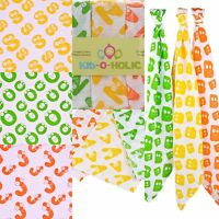 Baby Muslins Squares Personalised Organic Cotton with Initials, Swaddle Wrap