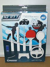 Nintendo Wii 10 In 1 Soft Foam Sports Kit - Racing Game, Fishing, Ping Pong More