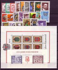 1976 AUSTRIA ANNATA COMPLETA NUOVI GOMMA INTEGRA  OSTERREICH JAHRGANG POSTFRISCH