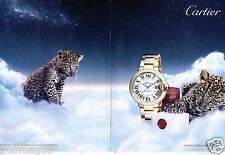 Publicité advertising 2014 (2 pages) La Montre collection Ballon Bleu de Cartier