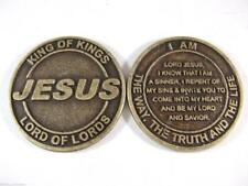 Catholic Jesus Salvation Coins + Prayer Books - Lot of 10 - FREE SHIPPING in USA