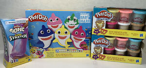 Play-Doh Pinkfong Baby Shark Confetti Packs Slime Super Stretch Playdoh Bundle