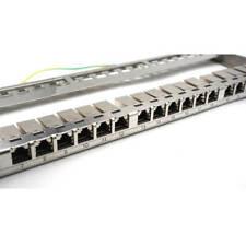 Ets 24-Port Cat6 Shielded Half-U Pass Through Coupler Patch Panel