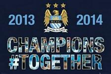Man City Premier Winners 2013-2014 - Maxi Poster 91.5cm x 61cm new and sealed