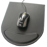 Mouse Pad with Comfort Wrist Rest Support For for Laptop, Computer & PC Black