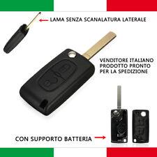2 TASTI SCOCCA GUSCIO CHIAVE TELECOMANDO PER CITROEN C1 C2 C3 C4 C5 BATTERIA