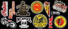 Vintage Motor Bike Sticker Pack