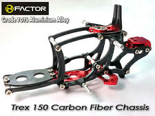 Heli Factor Align Trex 150 Red Carbon And 7075 Alloy Aluminum Frame HFA15001R