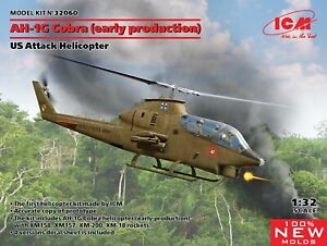 ICM 1/32 Bell AH-1G Cobra (Early Production) US Attack Helicopter # 32060