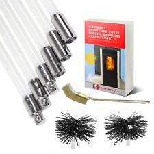 Kit de ramonage poele a pellet 9M | herisson ramonage 80mm/100mm [EBOOK OFFERT]