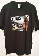 Princess Cruises Black T- Shirt sz L Juneau Alaska City Cabin Bear Nwt