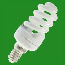 3x 5W CFL Spiral Light Bulb SES E14 Low Energy Lamp 2700K Warm White
