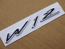 W-12 Wing Badge Fender Side Rear Emblem Decal for Bentley W12 Continental GT GTC