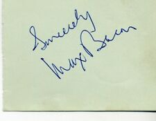 MAX BACON-ACTOR-COMEDIAN-HAND SIGNED AUTOGRAPH ALBUM BOOK PAGE-AFTAL/UACC RD316